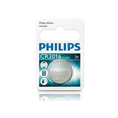 Philips CR2016/01B Minicell Lithium CR2016 Tekli Pil